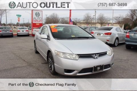 Pre-Owned 2007 Honda Civic LX FWD 2D Coupe