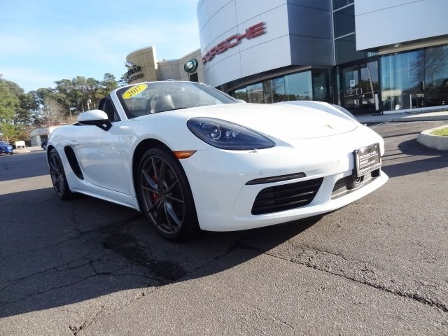 certified pre-owned 2017 porsche 718 boxster s 2d convertible in