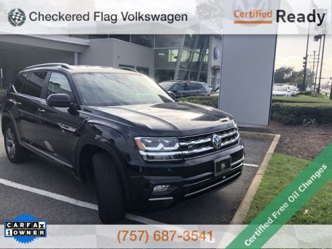 Certified Pre-Owned 2019 Volkswagen Atlas SE w/Technology R-Line
